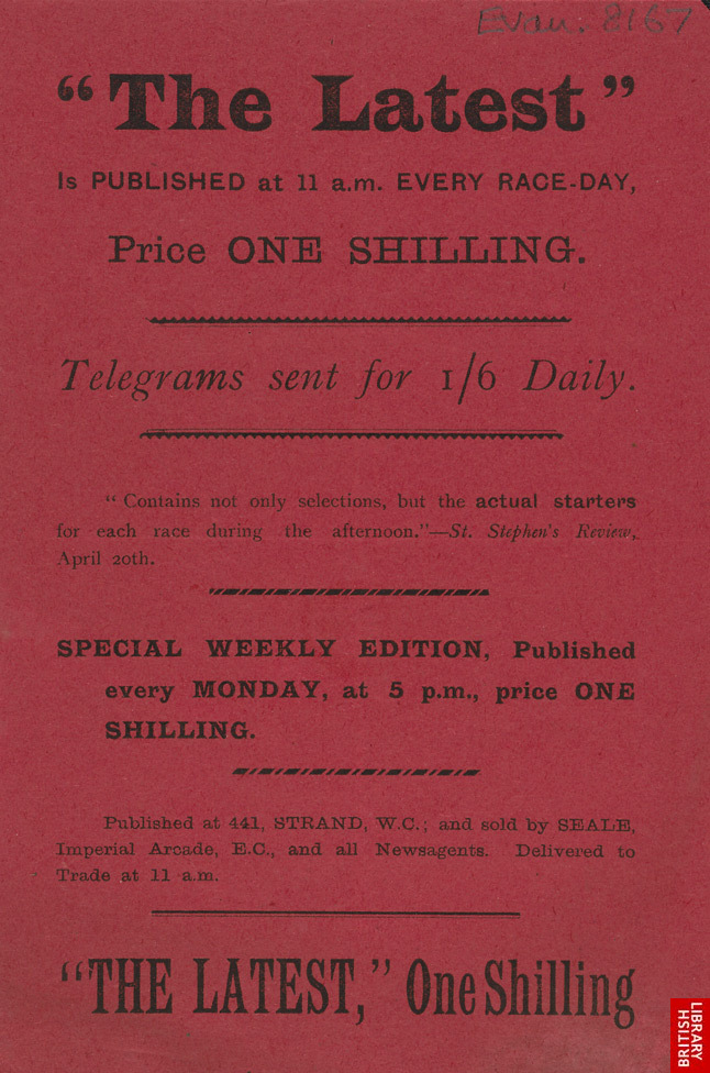 Advert For 'The Latest', Newspaper